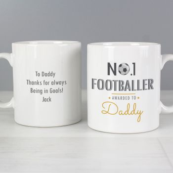 Number 1 Football Fan Mug