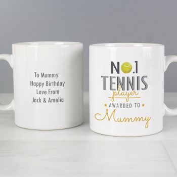 Number 1 Tennis Player Personalised Mug