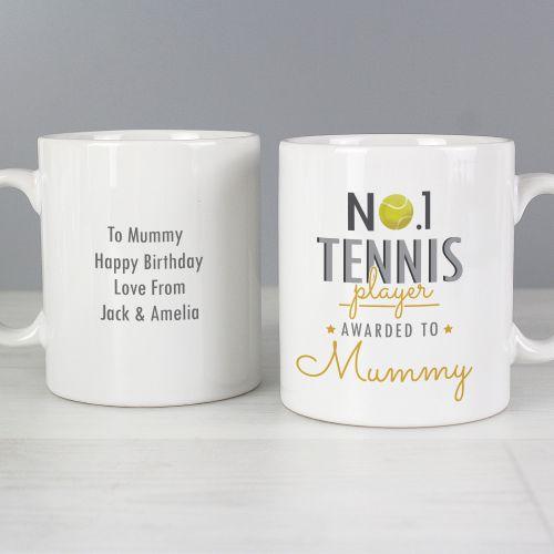 Number 1 Tennis Player Personalised Mug