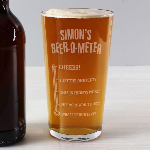 Beer-om-eter Personalised Pint Glass