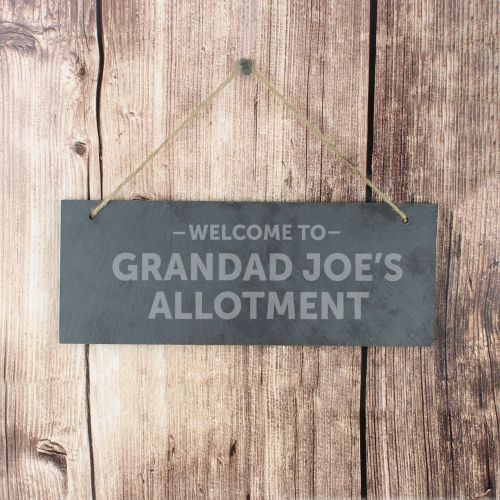 Grandad's Allotment Personalised Slate Hanging Sign