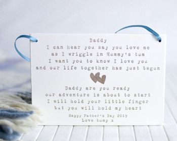 Daddy To Be Hanging Sign