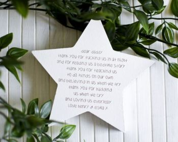 Daddy Thank You Freestanding Star