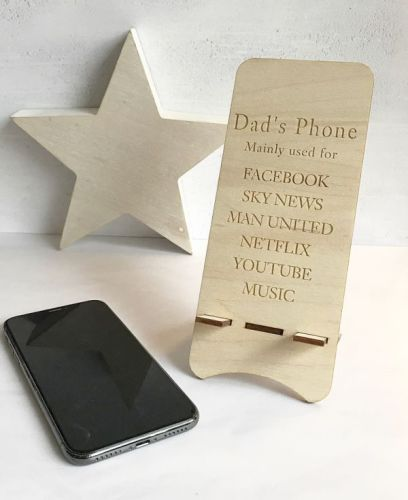 Daddy's Personalised Phone Stand