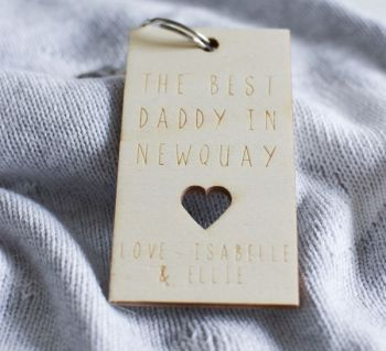 Best Daddy Personalised Keyring