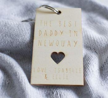Best Daddy Personalised Keyring