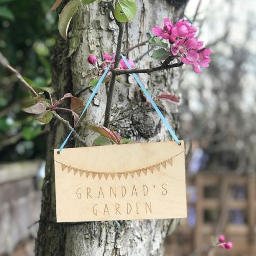 Grandad's Garden Personalised Hanging Sign