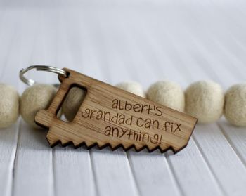 Grandad Can Fix Anything Keyring