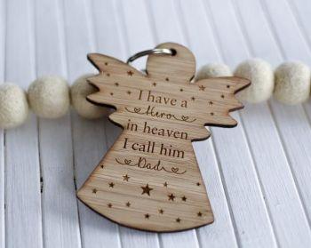 My Dad My Hero In Heaven Keyring