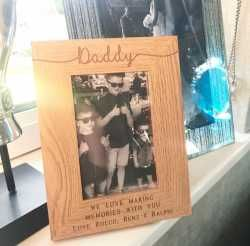 We Love Making Memories With You Daddy Personalised Frame