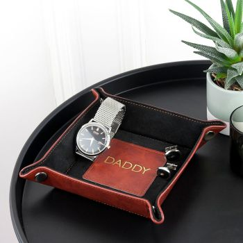 Personalised Luxury Brown Valet Tray