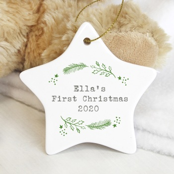 Holly Personalised Ceramic Star
