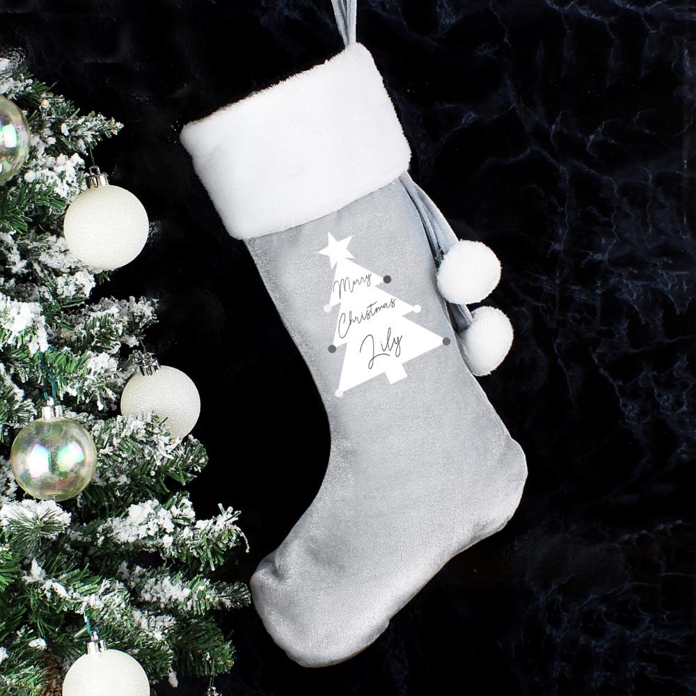 Christmas Tree Personalised Luxury Stocking
