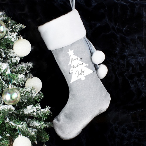 Christmas Tree Personalised Luxury Stocking