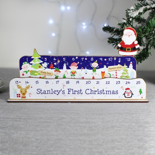 Personalised 'make your own' Santa Christmas Countdown