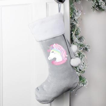 Luxury Personalised Unicorn Stocking