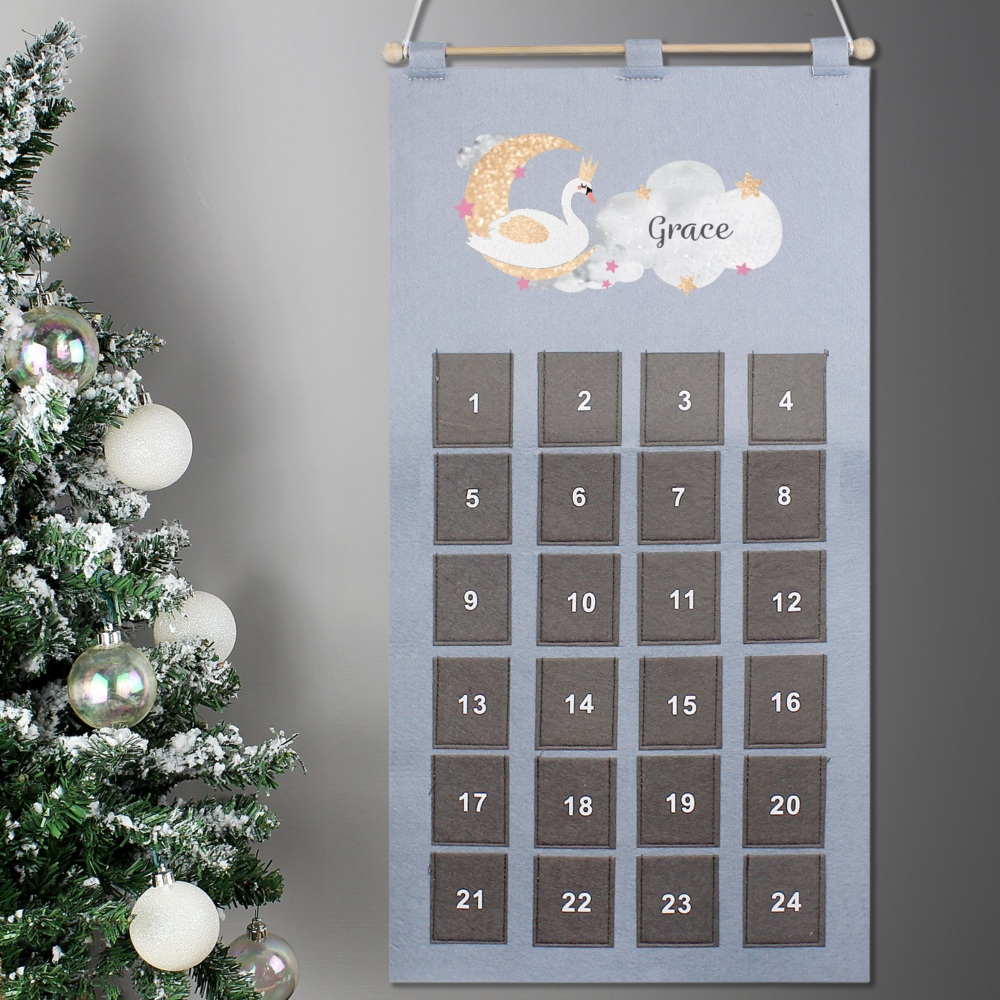 Elegant Swan Personalised Advent Calendar