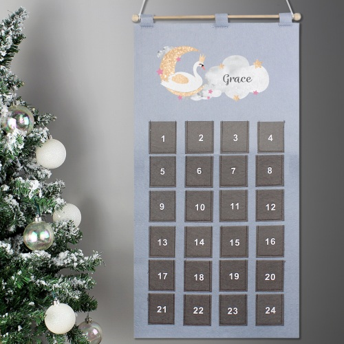 Elegant Swan Personalised Advent Calendar