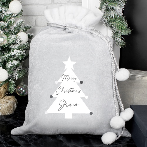 Christmas Tree Personalised Luxury Sack