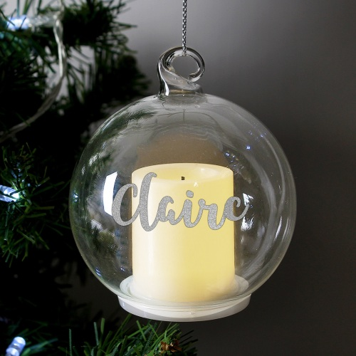 Personalised Candle LED Bauble