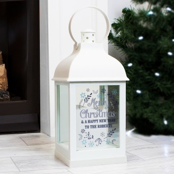 Christmas Frost Personalised Lantern