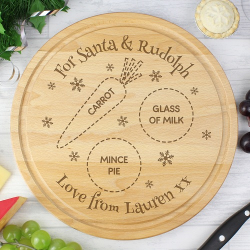 Wooden Christmas Eve Personalised Treat Board