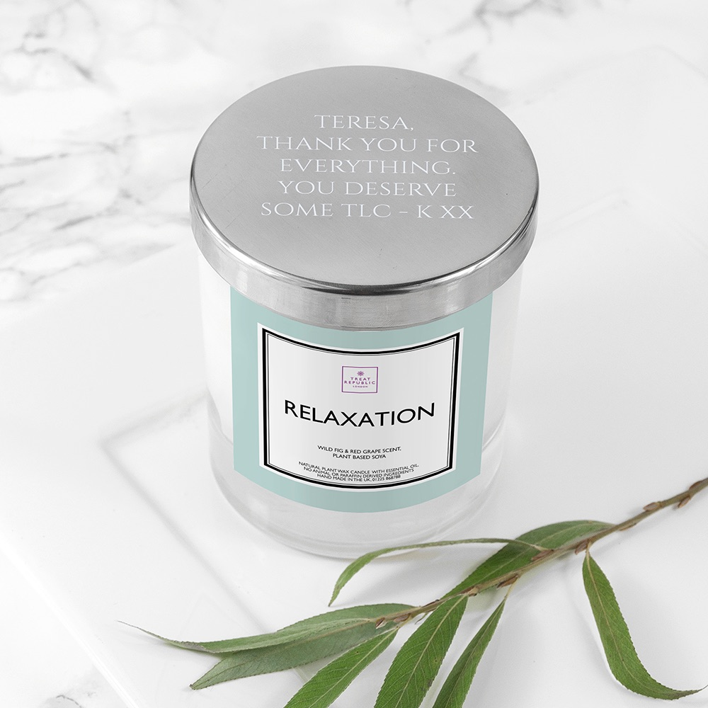 Handmade Personalised Luxury Relaxation Candle