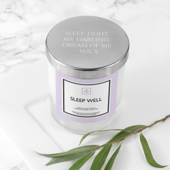 Handmade Personalised Luxury Sleep Well Candle