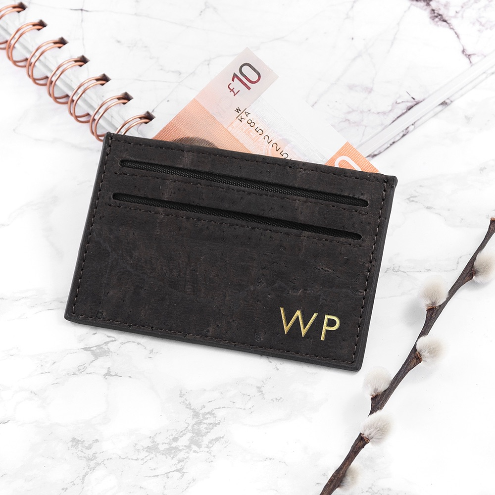 Vegan Leather Black Card Holder