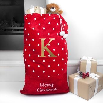 Personalised Polka Dot Christmas Sack