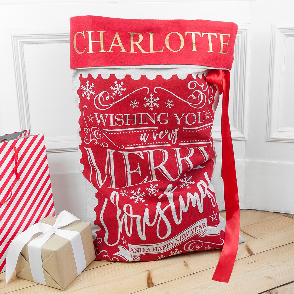 Traditional Personalised Santa Sack