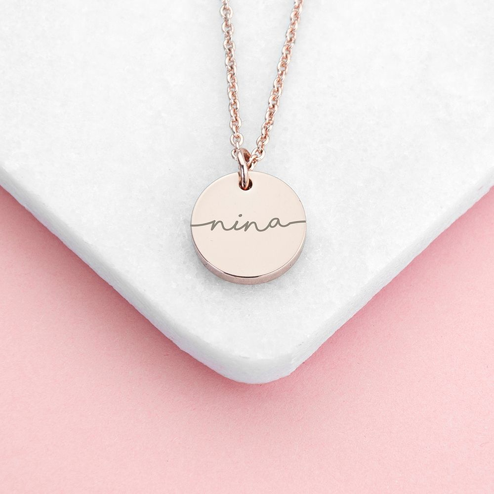 Stylish Personalised Disc Necklace