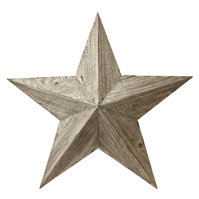 White/Grey Wash Large Barn Star