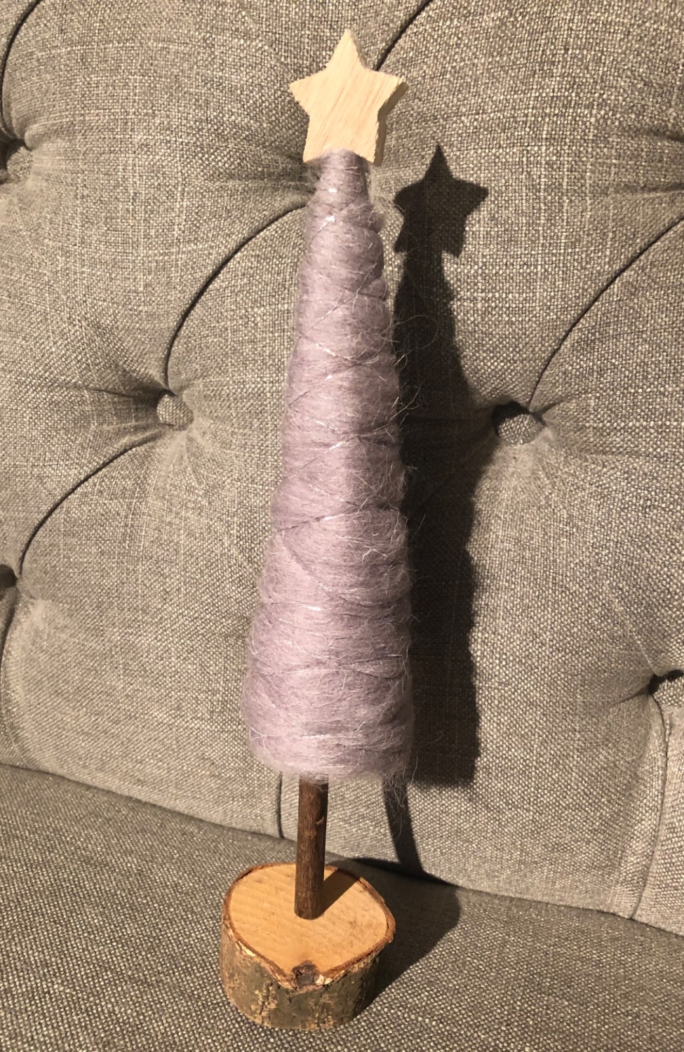 Grey Woollen Tree Decoration