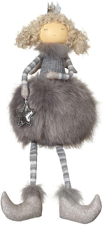Faux Fur Sitting Fabric Angel - Grey