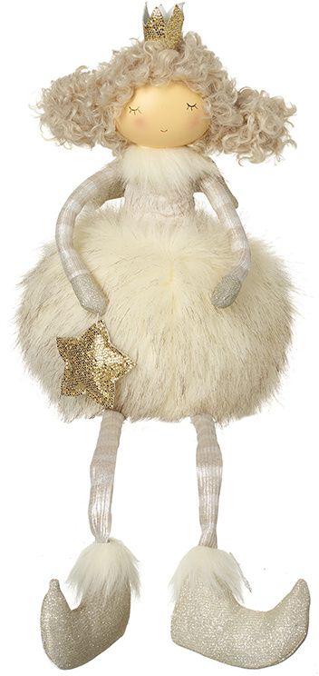 Faux Fur Sitting Fabric Angel - Cream