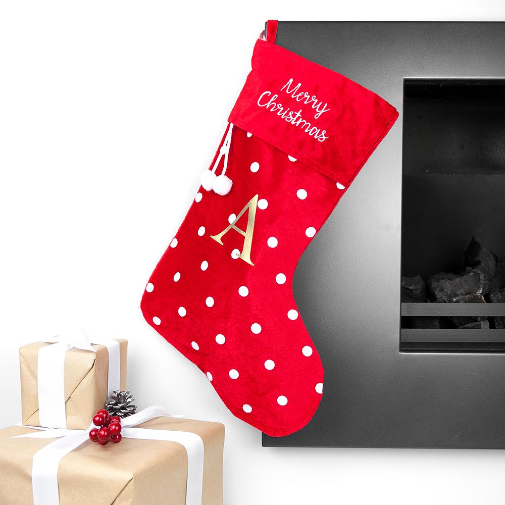 Polka Dot Personalised Stocking