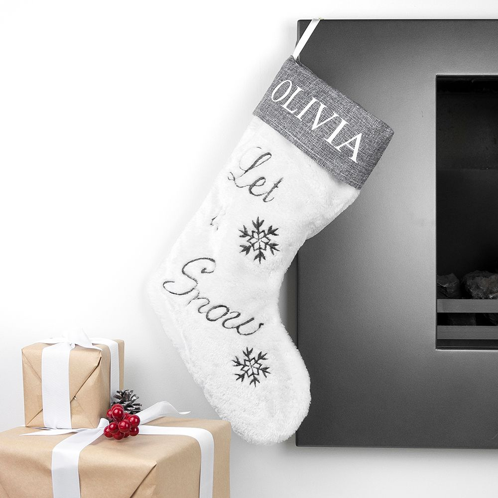 Let It Snow Personalised Stocking