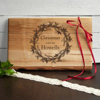 Welsh Ash Personalised Christmas Serving Board