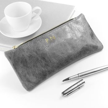 Luxury Leather Personalised Pencil Case