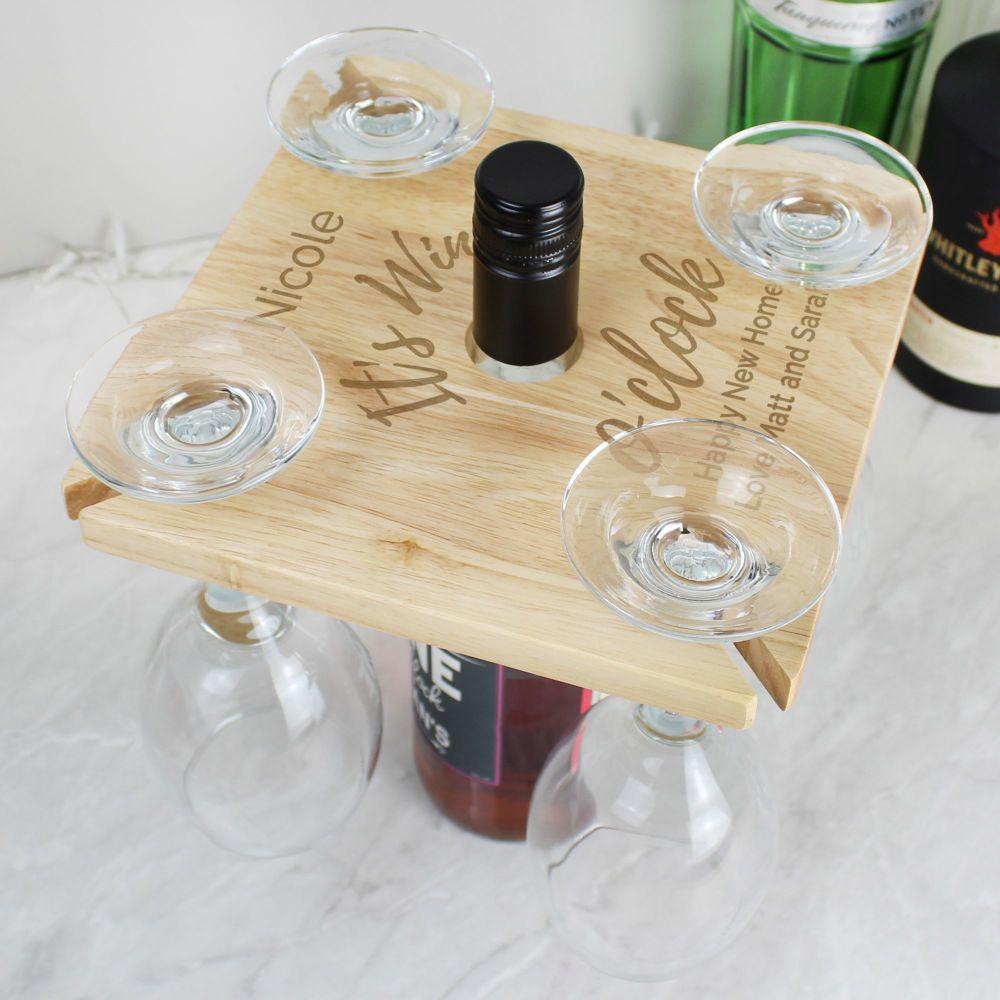 Wine O Clock Wine Glass Holder and Bottle Butler