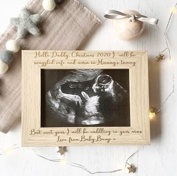 Excited To Meet You Daddy Personalised Scan Frame