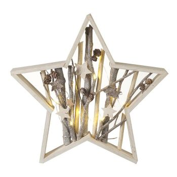 LED Wooden Twig Star