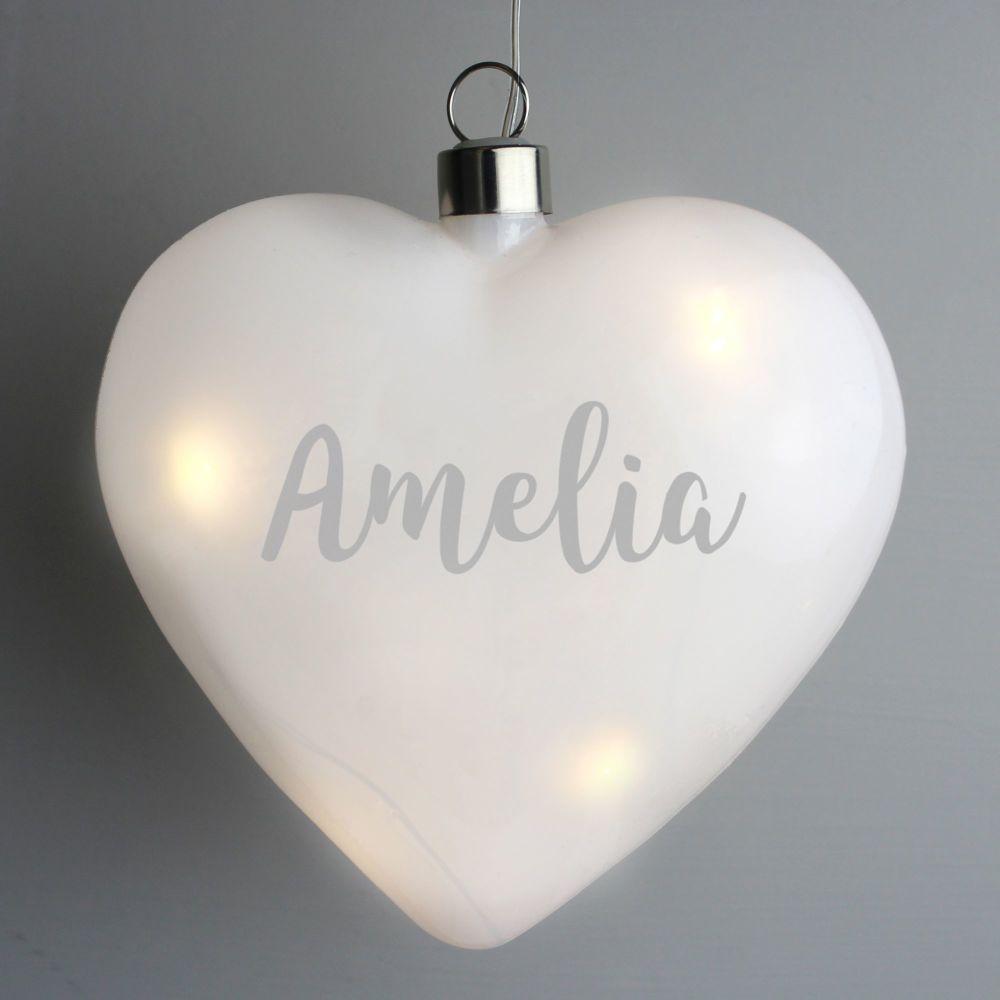 Personalised LED Heart