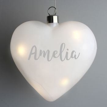 Personalised LED Heart