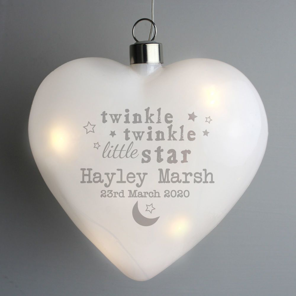 Twinkle Twinkle LED Hanging Heart