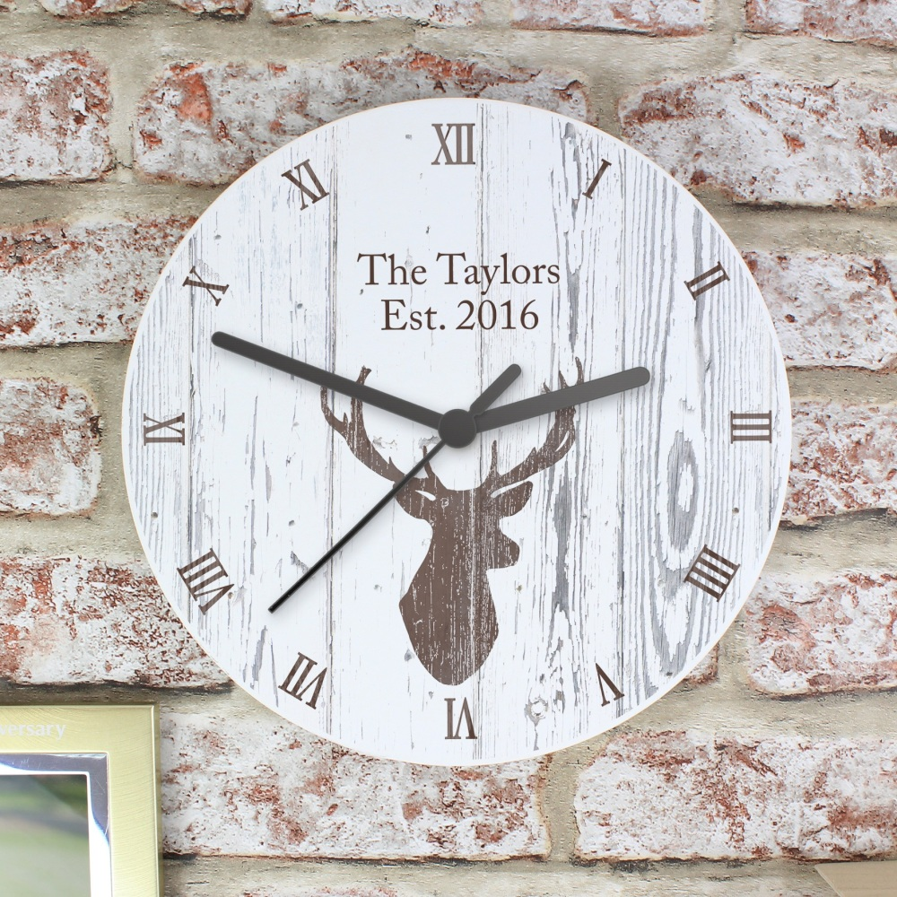 Shabby Chic Personalised Clock