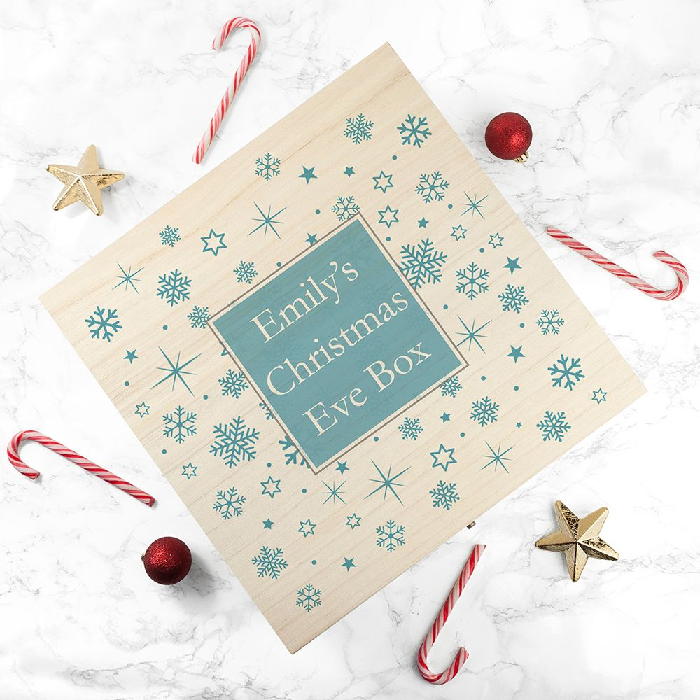 Snowflake Design Personalised Christmas Eve Box