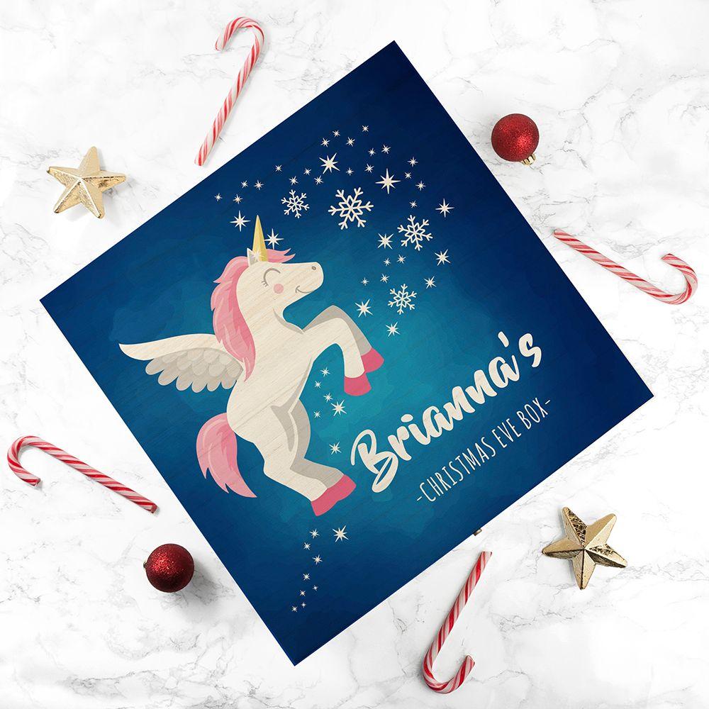 Baby Unicorn Personalised Christmas Eve Box