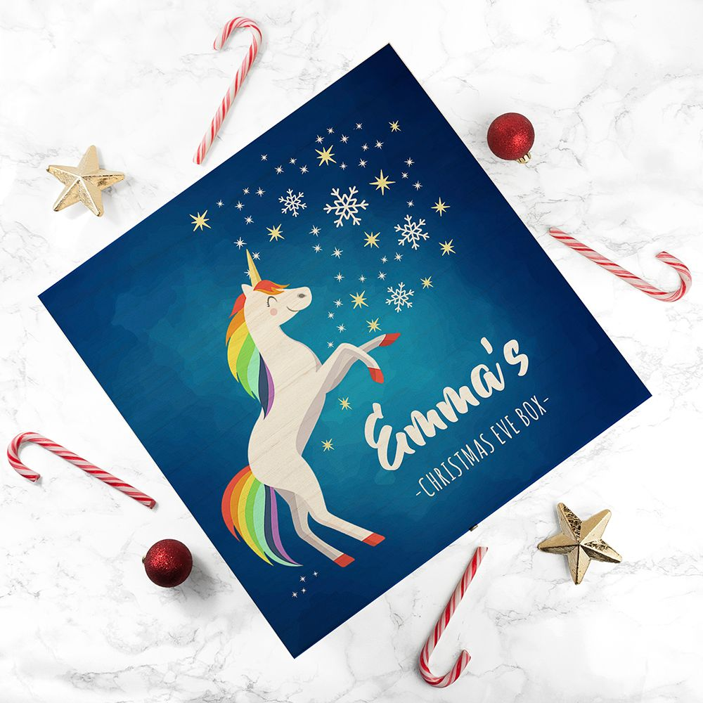 Rainbow Unicorn Personalised Christmas Eve Box